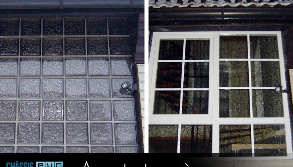 Châssis PVC photo Avant et Après. (3)