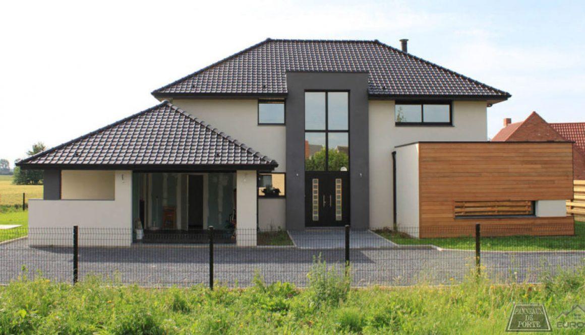 Maison Belgique avec Panneau panneauxdeporte.be