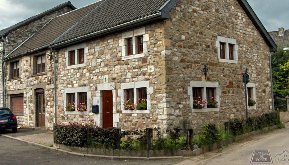 Maison classique avec Porte en PVC et panneau de porte imitation bois
