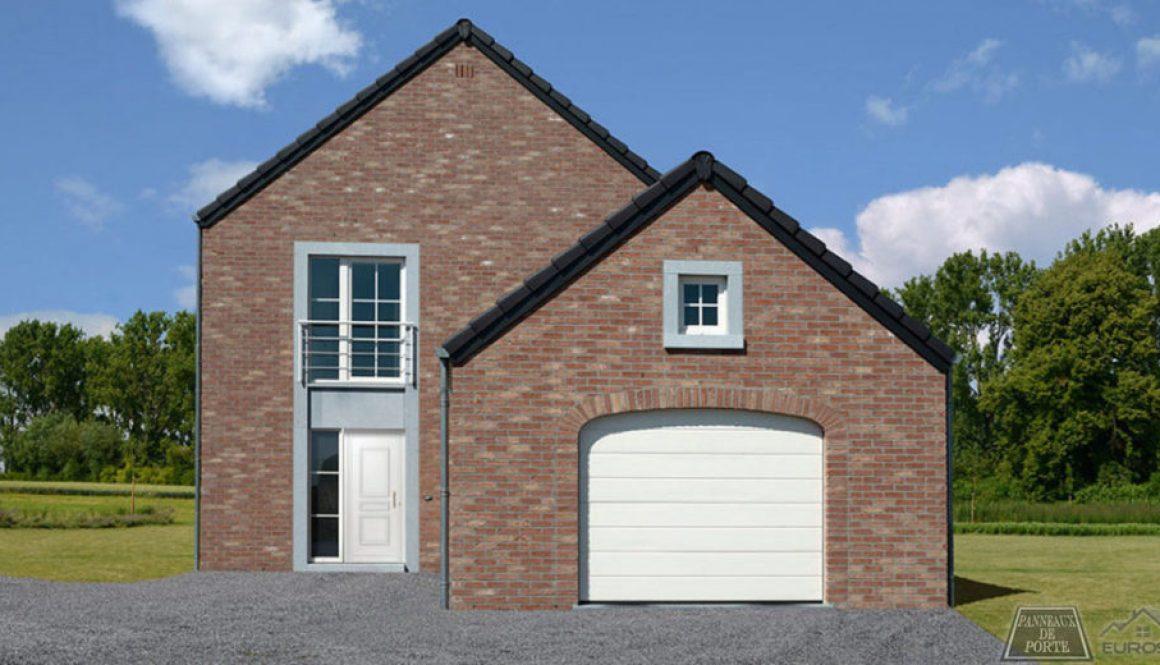Maison neuve avec porte en PVC BLANCHE Panneau de porte