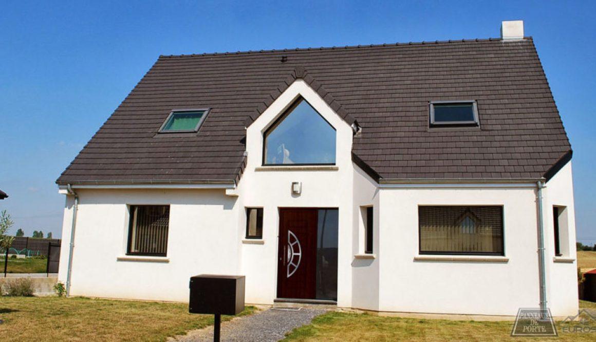 Porte en PVC avec panneau de porte en ALU Belgique