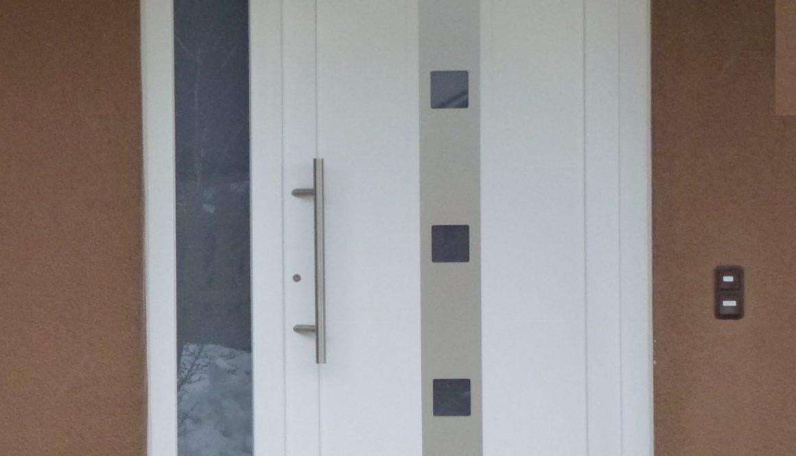 porte d'entree pvc gealan blanc