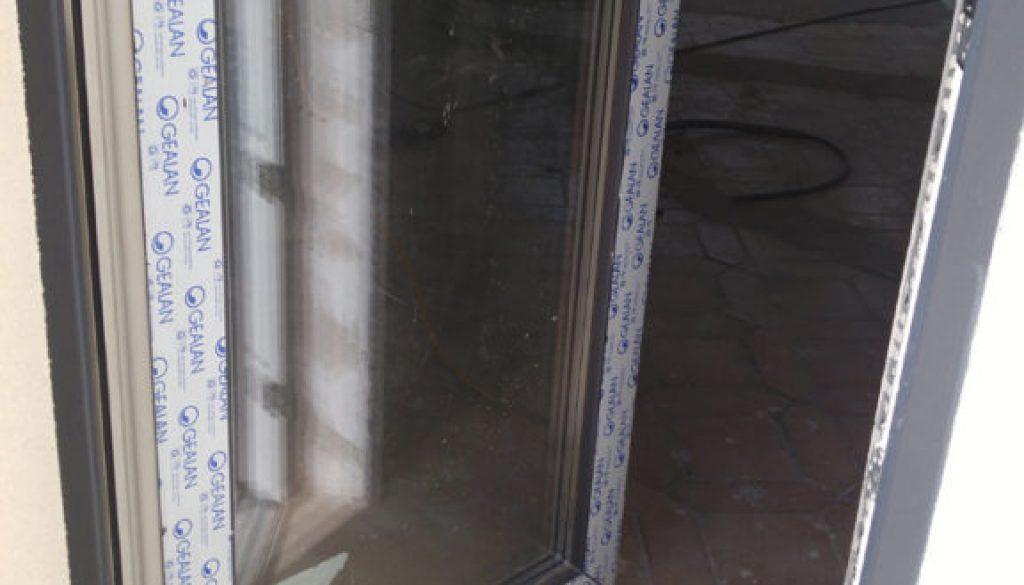 Porte d'entree PVC avec seuil aluminium 20mm