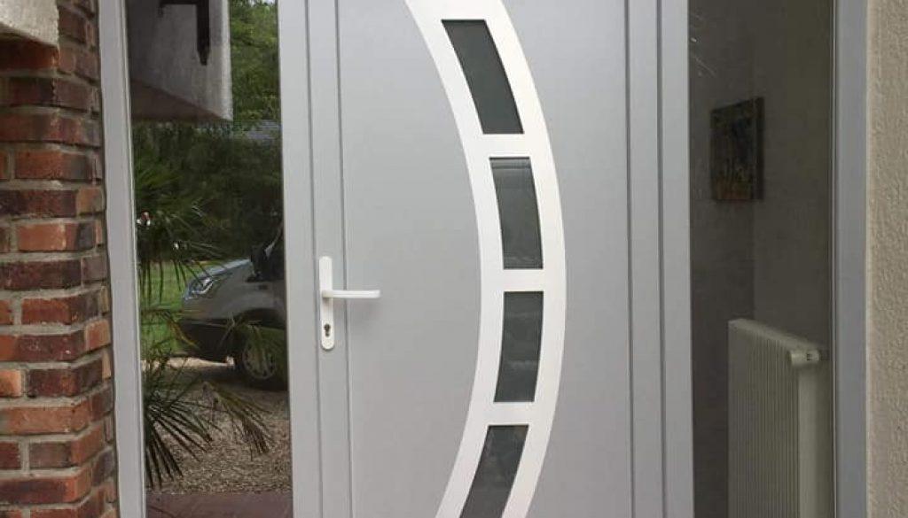 Porte PVC avec Panneau decoratif Belgique 8